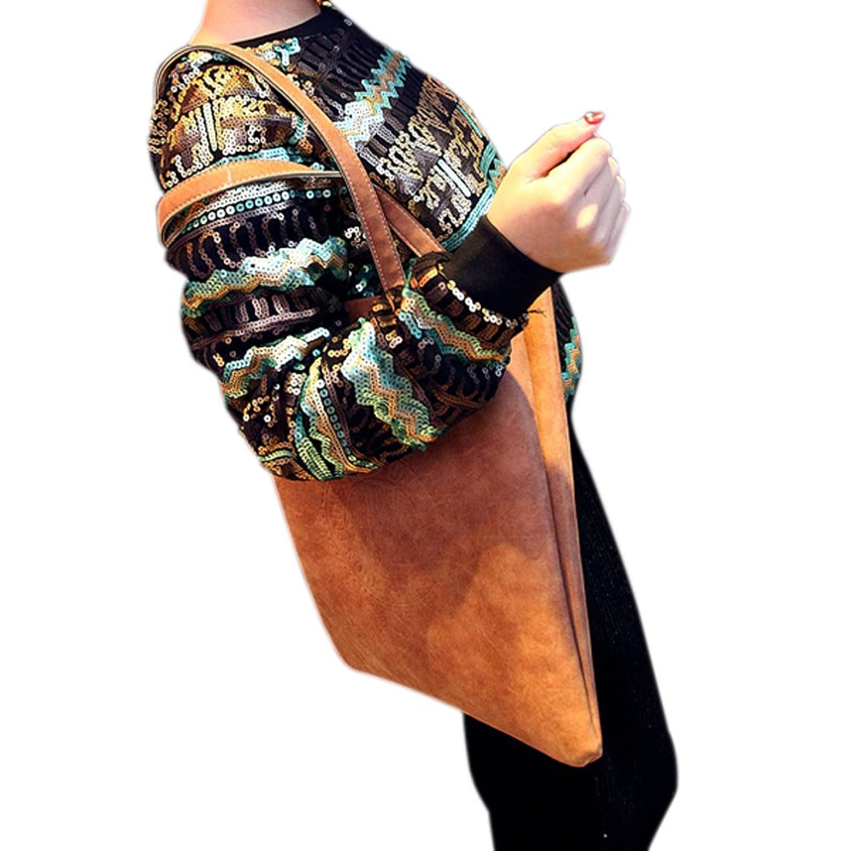 Bao Core BXT Womens Vintage Big Capacity Casual Dull Polish PU Leather Satchel Handbag Shoulder Bag Tote Bag Shopping Bag