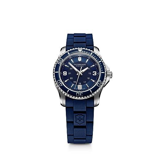 Victorinox 241610 - Reloj de Pulsera Mujer, Caucho, Color Azul: Victorinox Swiss Army: Amazon.es: Relojes