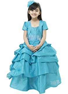 91bbe627927de Samsara Couture Baby Girls Ball Gown Frozen Elsa Dress Dupion and Satin Sky  Blue Gown for