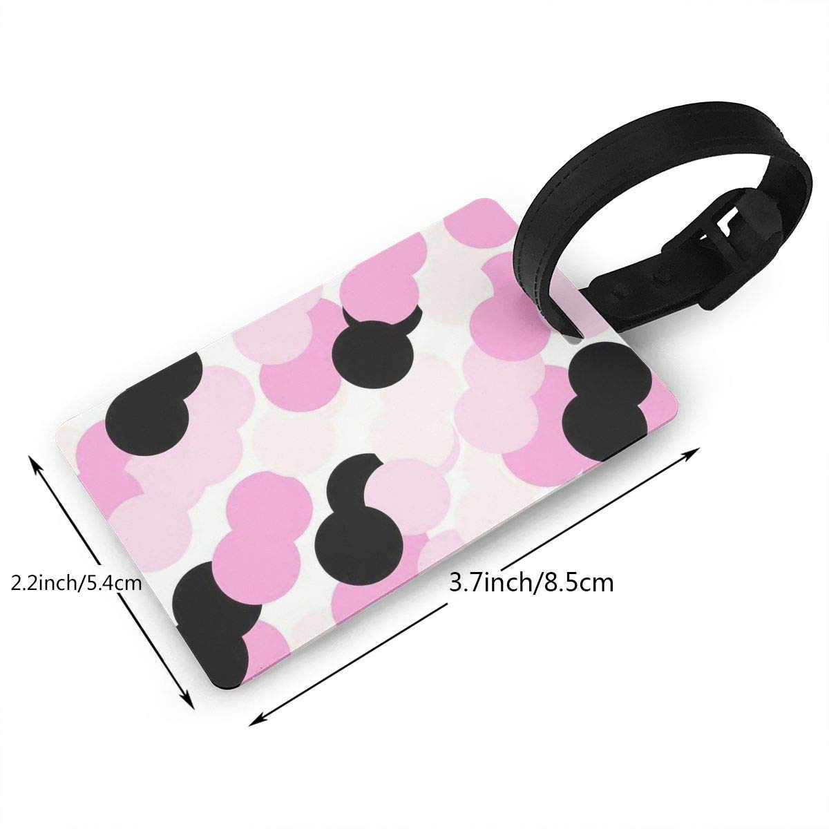 2 Pack Luggage Tags Colorful Polka Dot Cruise Luggage Tag For Travel Bag Suitcase Accessories