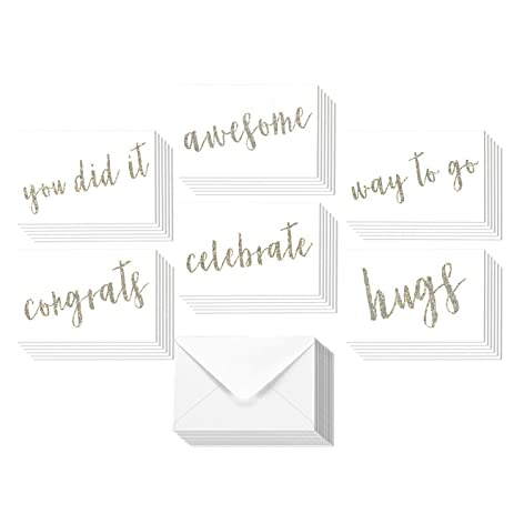 amazon com 36 pack all occasion sentiments glitter greeting cards