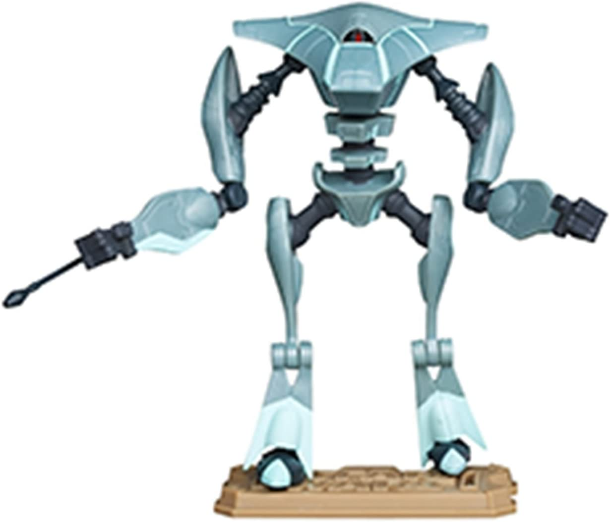 STAR WARS CLONE WARS ANIMATED 3.75 INCH AQUA BATTLE DROID ACTION FIGURE