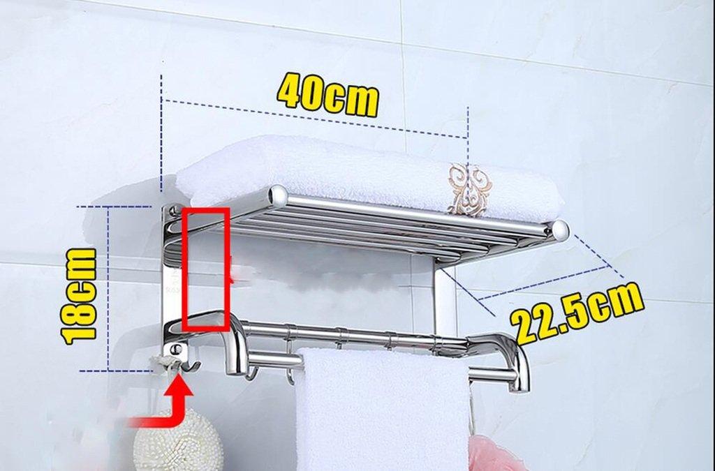 タオルバー バスルームタオルラック304ステンレススチールタオルラックバスルームラック ( 色 : B , サイズ さいず : 40 cm 40 cm ) B07CJWCRQ9 40 cm 40 cm|B B 40 cm 40 cm