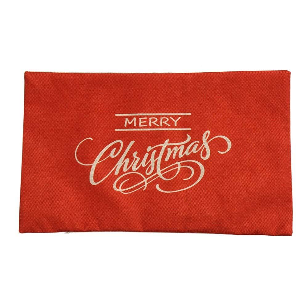 XINAINI Pack Navidad Funda De Almohada De Navidad Mezcla De ...