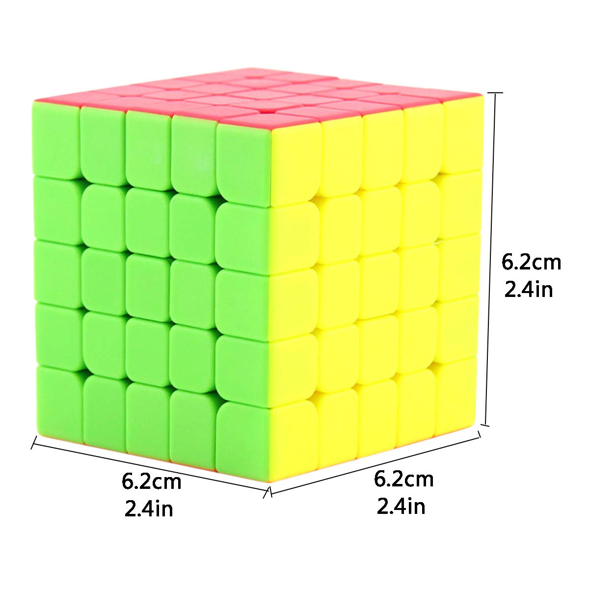KidsPark 2x2 Rubix Cube Magic Speed Cube Puzzle Toys For Kids /& Adults Vivid Color Stickerless /…