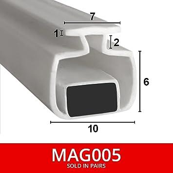 Sellos de ducha magnéticos para canales, se venden en pares, suave, flexible, plegable, de goma blanca con imán, se adapta a canales de 7 mm, 2 metros de largo, MAG005: Amazon.es: Bricolaje