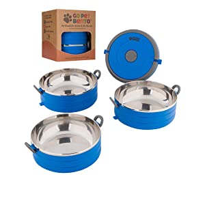 Healthy Human Portable Dog & Pet Travel Bowls with Lid - Human Grade Stainless Steel - Ideal for Food & Water - 3 Sizes & 3 Colors