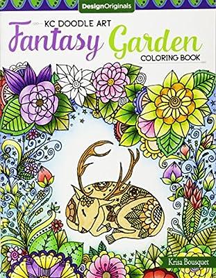 KC Doodle Art Fantasy Garden Coloring Book: Amazon.de: Krisa ...