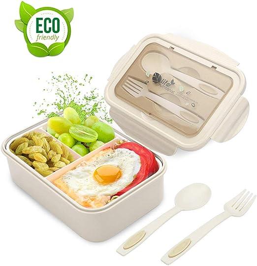 O-Kinee Fambrera Infantil, Lunch Box, Fiambrera con 3 ...