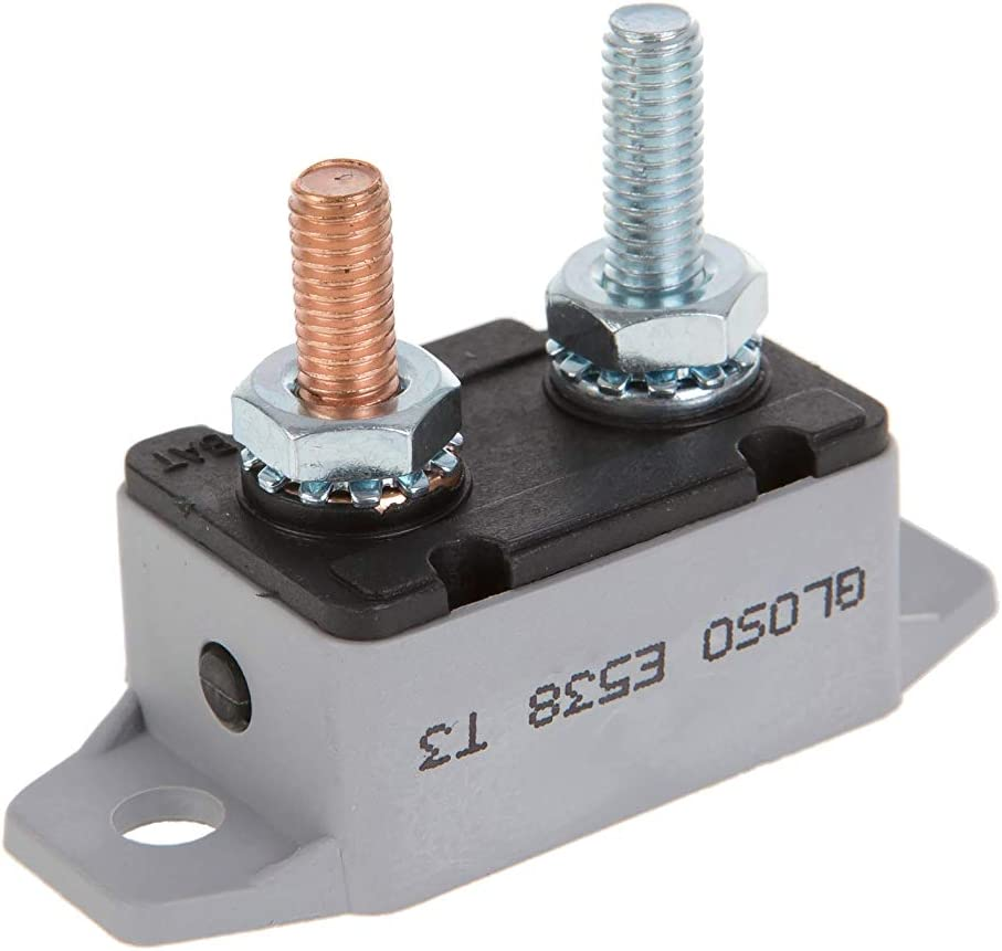 Lengthwise Bracket Manual Reset 30A T3 GLOSO E538 Stud Type Circuit Breakers - 1 Pack