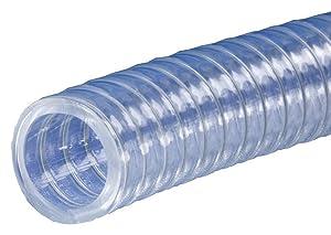 Kuriyama K7160-12X100 Kuri Tec Polyspring K7160 Series Standard Wall PVC Food & Beverage Vacuum/Transfer Hose, 3/4