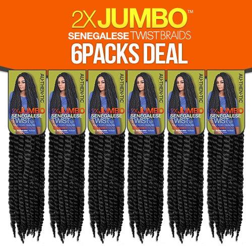 Authentic Synthetic Hair Crochet Braids 2X Jumbo Senegalese Twist 24