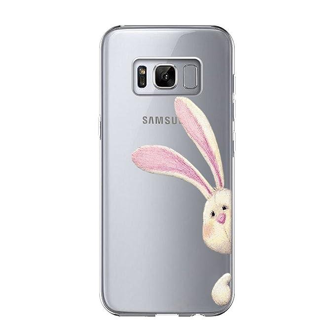 Qissy Carcasa Galaxy S8 Silicona Ultra Delgado de Estuche Carcasa Trasera para Suave Lindo Animales Panda Protective Case Cover para Samsung Galaxy S8 ...
