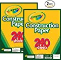 Crayola Construction Paper, Assorted Colors, 240 Sheet