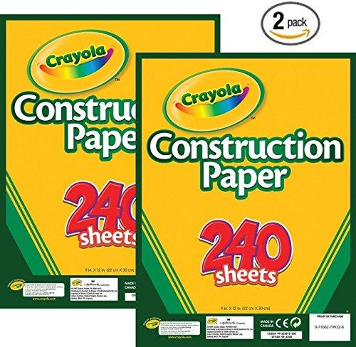 Crayola 240 Ct. Construction Paper - 2 Packs
