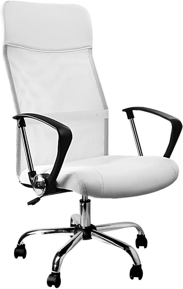 Deuba sedia da ufficio poltrona da ufficio girevole ergonomica in similpelle seduta in rete regolabile in altezza meccanismo di oscillazione regolabile