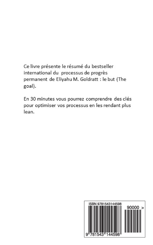 Le But De Eliyahu M Goldratt (resume) (devenir Riche) (volume 25) (french  Edition): Mathias Blinc: 9781543144598: Amazon: Books