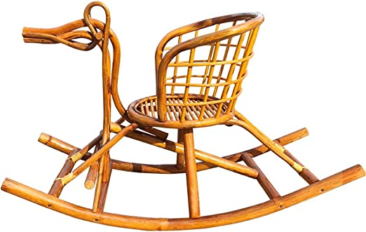 ZQY Handmade Rattan Rocking Chair Can Sit 1 6 Years Old
