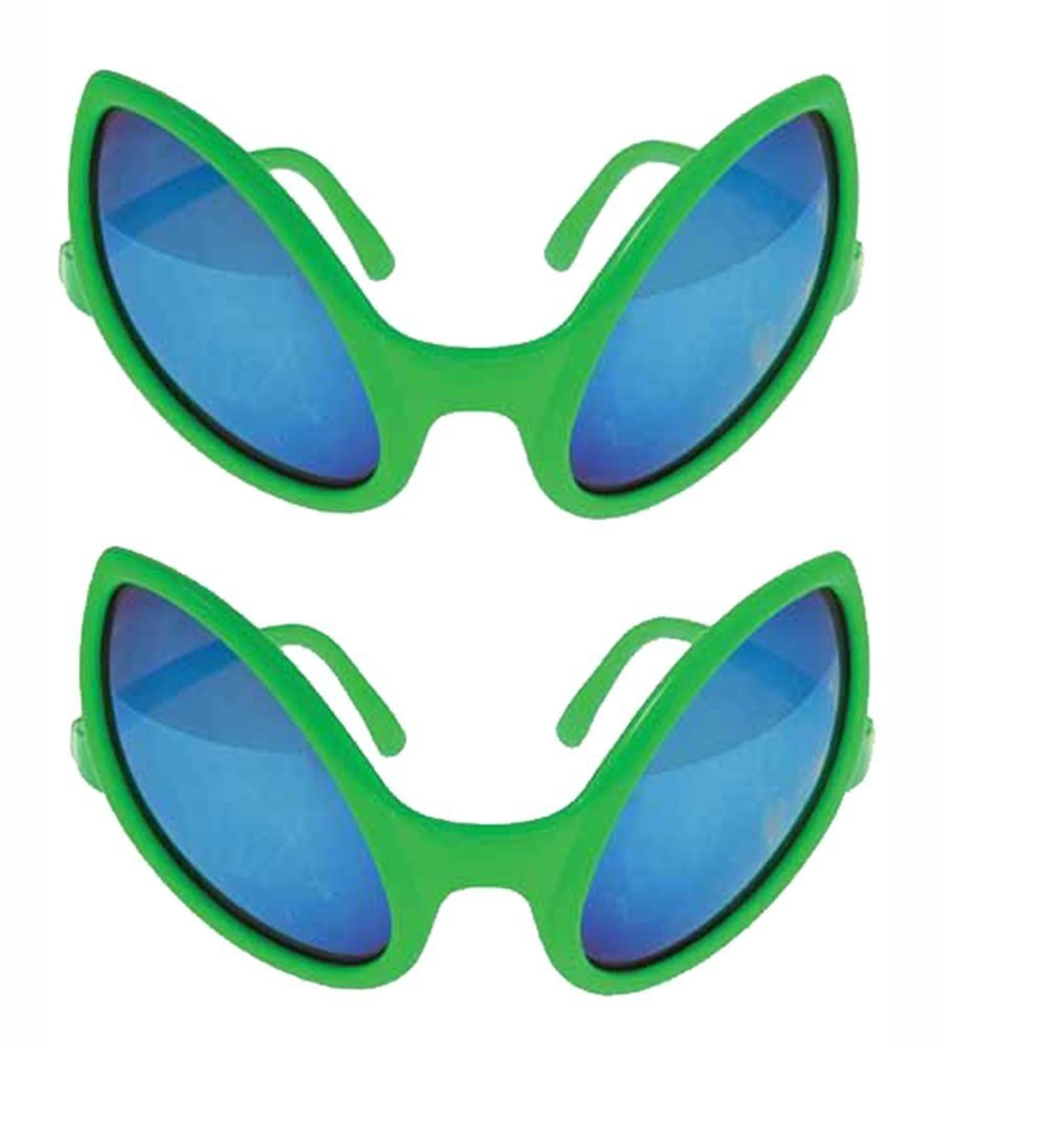U.S. Toy Alien Glasses 5 1/2 Inch Green Sunglasses - 1 Pack StealStreet (Home) GL16