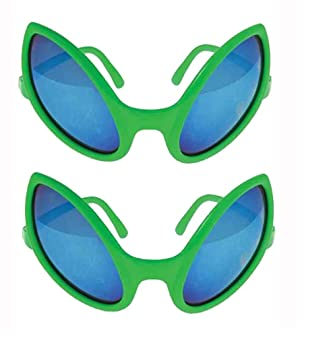 5e40369f16f Image Unavailable. Image not available for. Color  Green Alien Glasses ...
