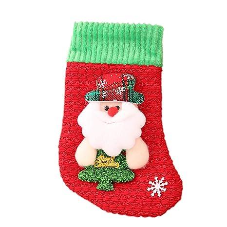 Personalised Christmas Santa Sack Gift Xmas Candy Socks Snowman Elk Stocking