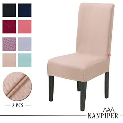 NANPIPER Dining Chair Slipcovers Washable Stretch Covers For Room Spandex Fabric Home Dcor