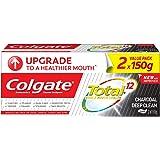 Colgate Total Charcoal Deep Clean Antibacterial Toothpaste Valuepack 150g x 2