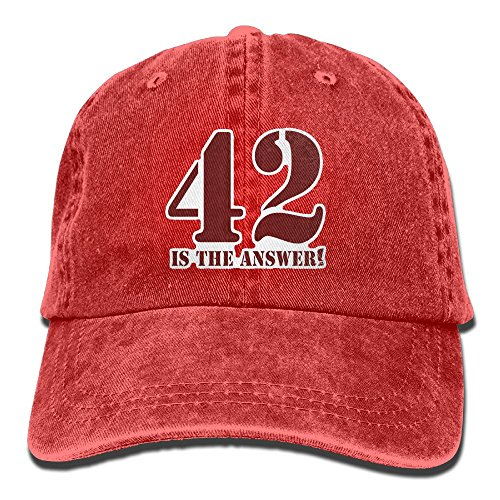 Baseball Cap 42 Is The Answer - Adjustable Trucker Hat Cotton Denim, DanLive 42 Is The Answer