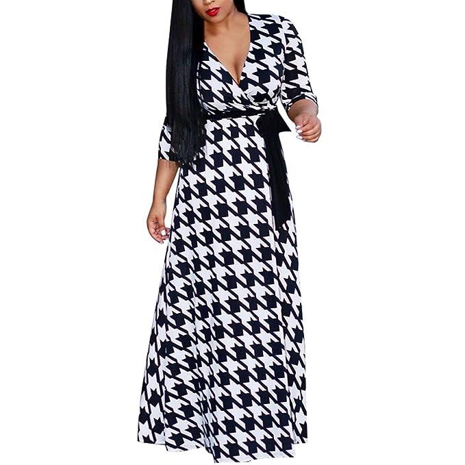 Ears Frauen MinikleidDamen Plus Size Sexy Loose Dress V-Ausschnitt ...