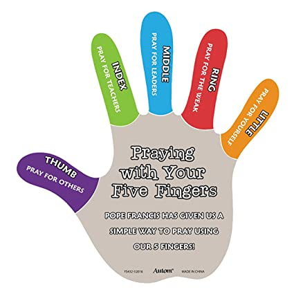Amazon com: Praying with Your Five Fingers Fun Religious