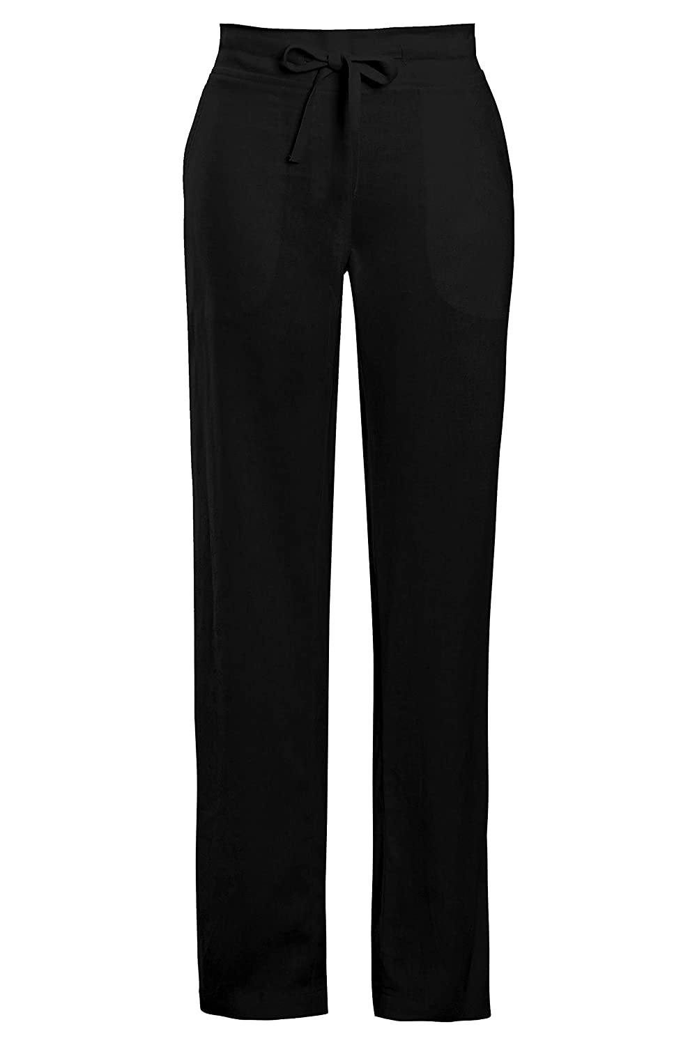 Habigail Ladies Linen Trousers Elasticated Waist Casual Summer Pants Full Length
