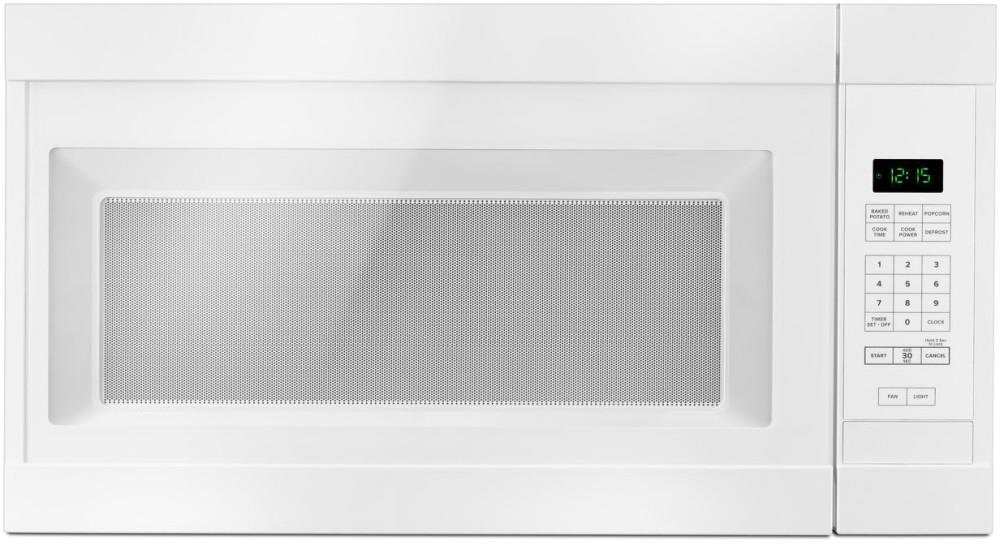 Amana AMV2307PFW 1.6CF Over The Range Microwave Oven 1000 Watts White by AMANA