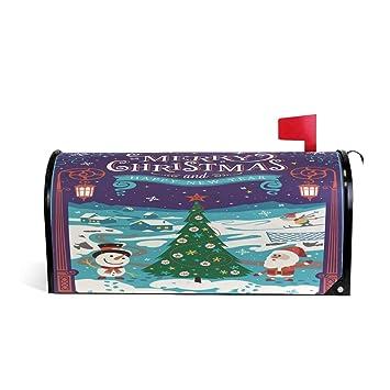 Papá Noel de Navidad Bienvenido Magnético Buzón Buzón Buzón Caja de Correos Envoltura Árbol de Invierno