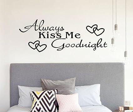 Beautyjourney toujours embrasse moi bonne nuit décoration murale autocollant chambre à coucher