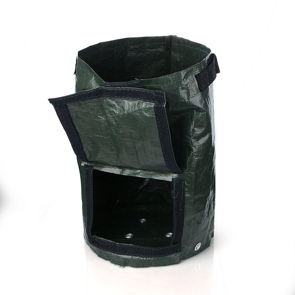 2pezzi giardinaggio Spring secchio, da giardinaggio Trash Lawn Leaf bag, Grow bag, borse, vaso con rifiuti di giardino, piscina giardino foglia sacchetto dei rifiuti (10litri)