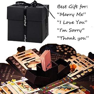 Yulie DIY Creative Caja de Regalo, Hecho a Mano explosión Caja de Regalo con álbum de Fotos y álbumes de Recortes para el día de San Valentín cumpleaños Boda