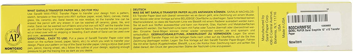 SARAL PAPER SARAL 12'' x12' Graphite Transfer Paper (Fоur Расk) by SARAL PAPER (Image #3)