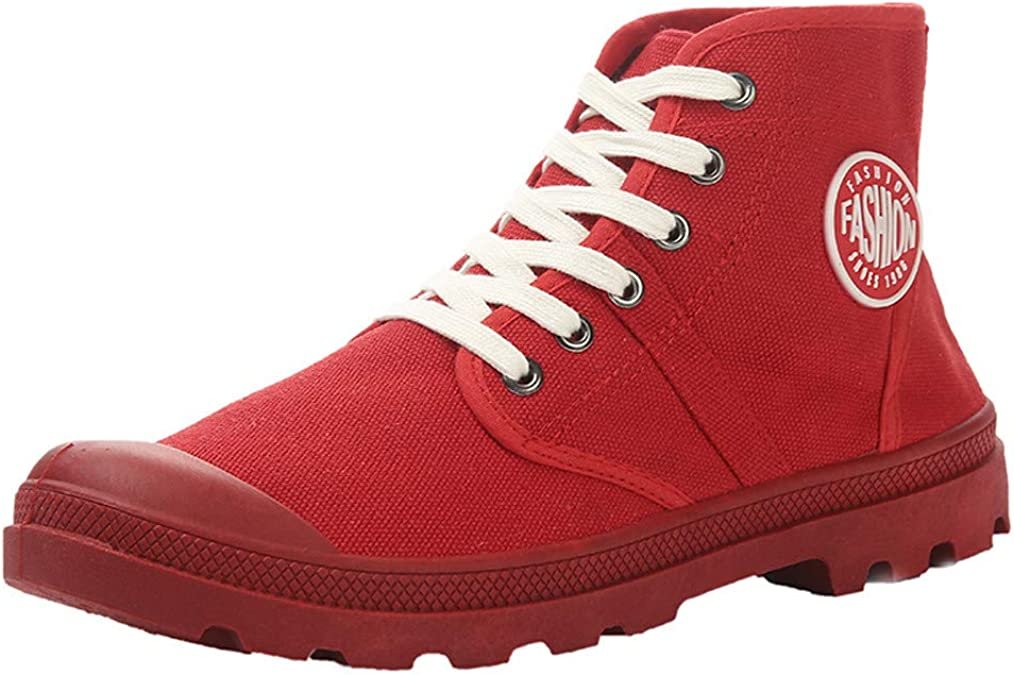 Mens Shiny Casual Sport  Lace Up High Top Pumps Athletic Shoes Walking Sneakers