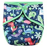HappyEndingsTM One Size Cloth Diaper Cover AI2 System (Dinosaurs, Rawwr!!)