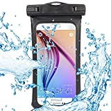 Sumaclife Bike Mount Holder Waterproof Pouch for ZTE Blade A2S / V7 Plus / A612 / A2 Plus / V8 / Axon 7S / Maven 3 / Nubia N2 M2 Z17 / Prestige 2 (Black)