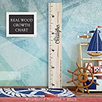 Wooden Kids Growth Chart Ruler for Boys and Girls Painted or Engraved (The Christopher) Back40Life