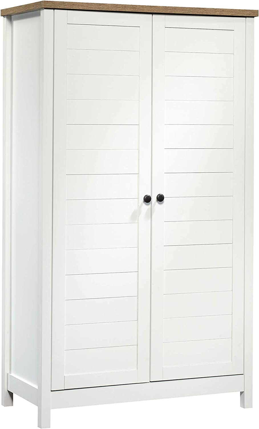 Sauder 423509 Cottage Road Storage Cabinet, Soft White Finish