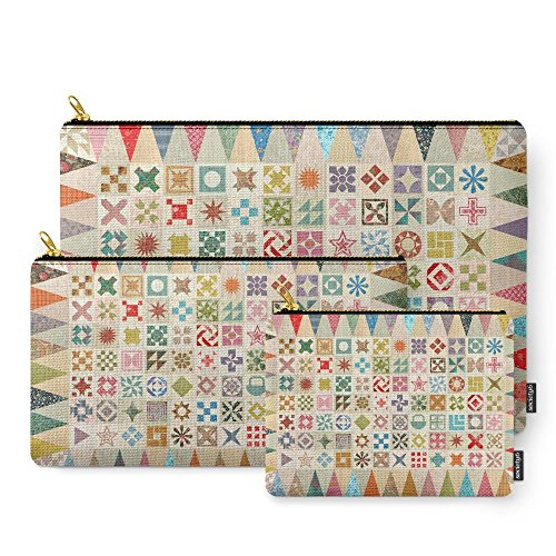Society6 Jane's Addiction To Quilting Carry-All Pouch Set of 3