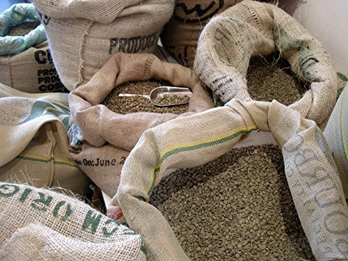 Green Unroasted Fresh 100% Arabica Coffee Beans, 5 Lb. Bag, RhoadsRoast Coffees (Bolivian Organic Fair Trade-FECAFEB)