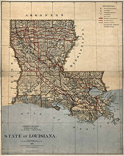 Map of Louisiana Amazoncom