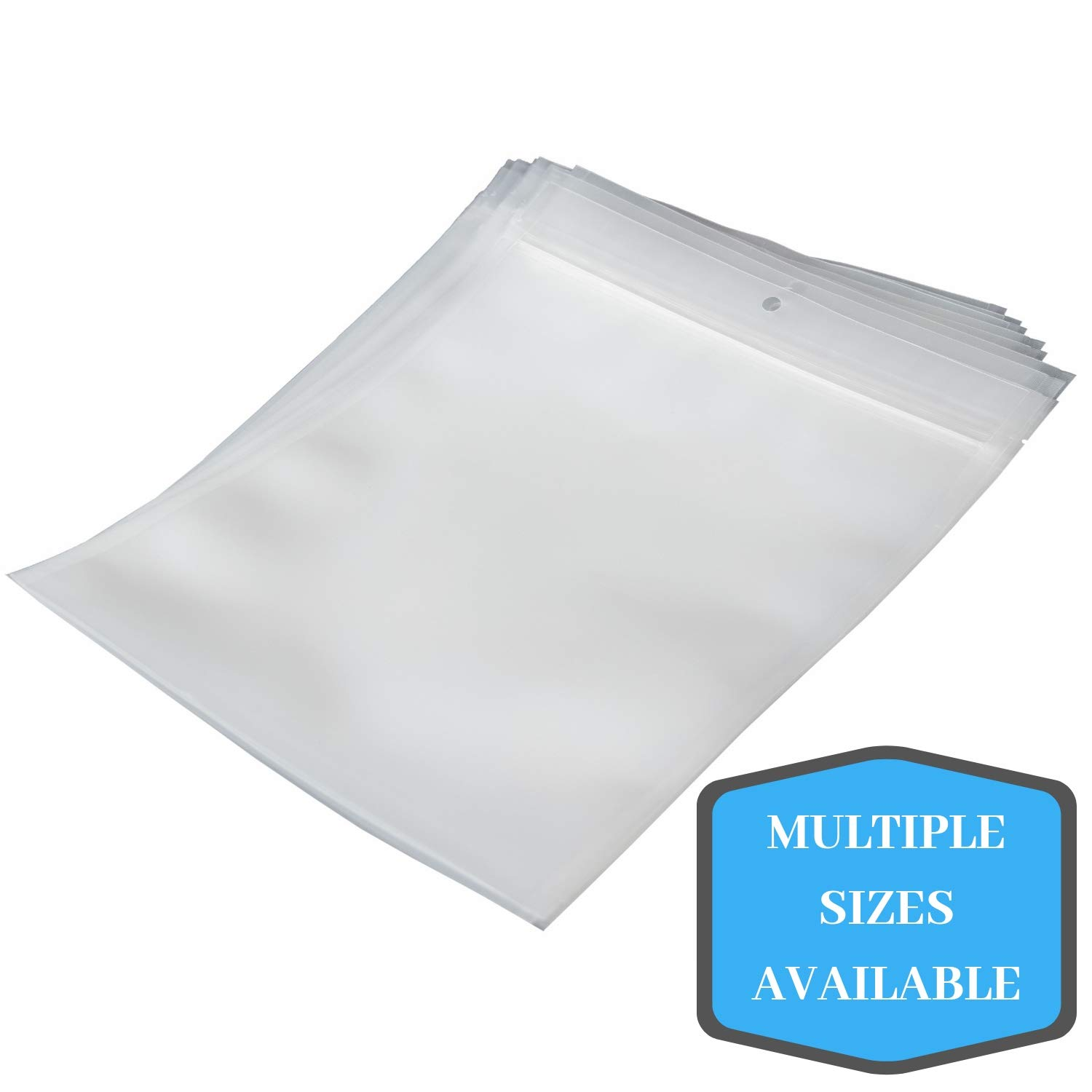 Vacuum Chamber Zipper Pouches - (8 x 14) - 4 Mil - 500/CS - Bottom Fill with Hang-hole by Online Packaging Solutions