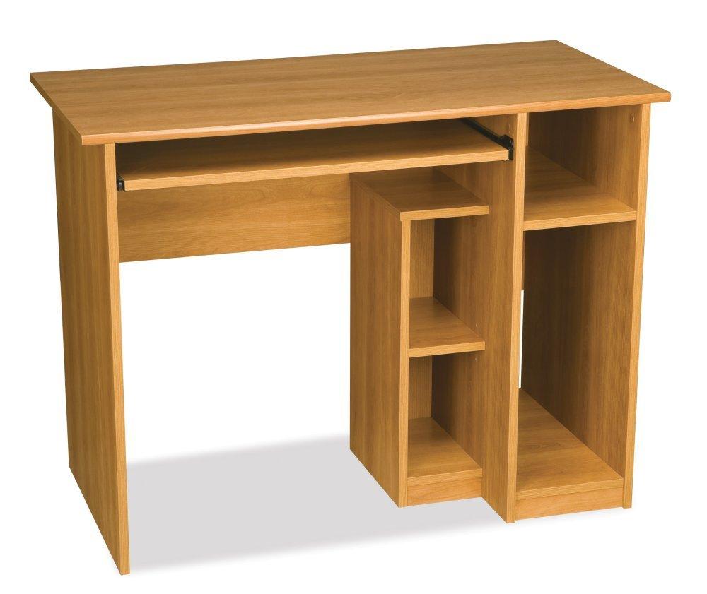Amazon.com: Computer Workstation w Desk & Open Cubbies - Basic ...