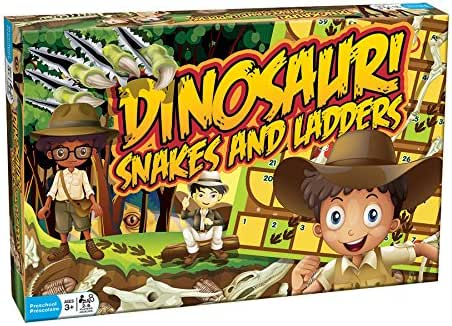 Outset Media - Dinosaur Snakes and Ladders - A Dino-Sized Twist on a Classic Game