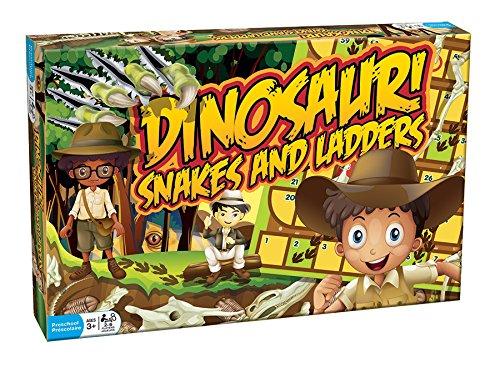 Outset Media - Dinosaur Snakes and Ladders - A Dino-Sized Twist on a Classic Game]()