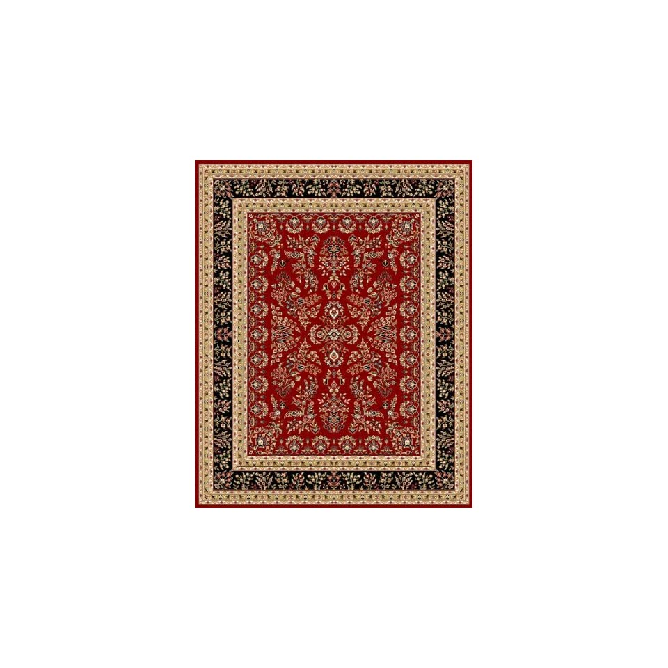 Safavieh Lyndhurst Collection LNH331B Traditional Oriental Red and Black Round Area Rug (8 Diameter)